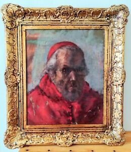 Portrait-of-a-cardinal-oil-on-canvas-old-late-19-early-20eme