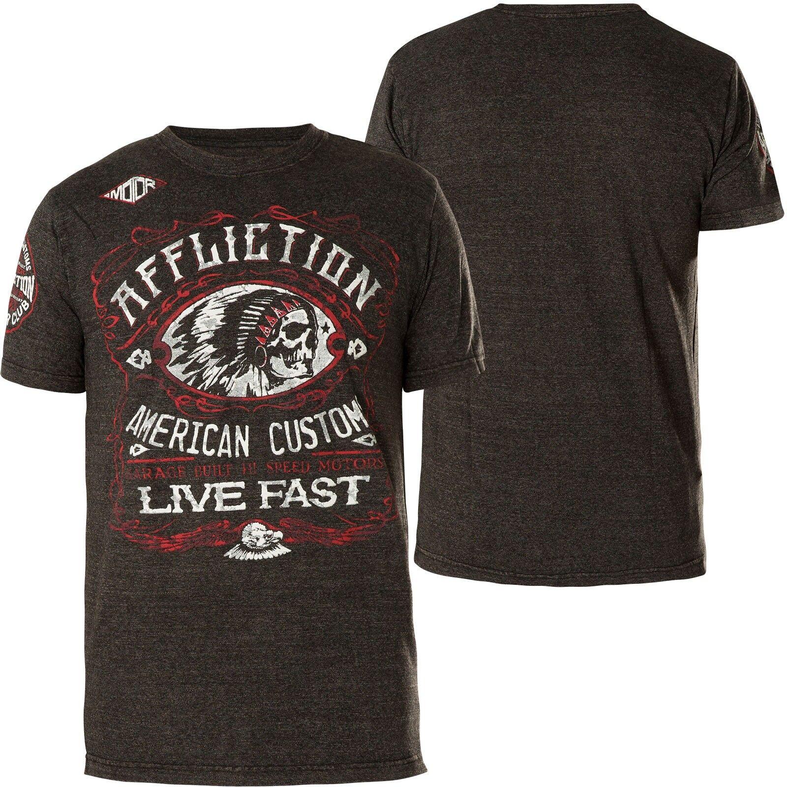 Affliction T-Shirt AC Moonshine Dark Grey