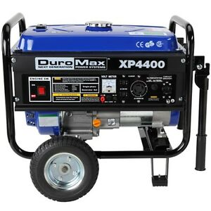 DuroMax XP4400 Portable Gas Powered Recoil Start Generator RV Home Backup