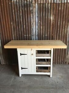 Image Is Loading KITCHEN ISLAND CUPBOARD DRAWERS BREAKFAST BAR STORAGE UNIT