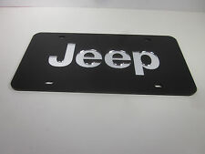 JEEP Acrlic Mirror License Plate Auto Tag nice