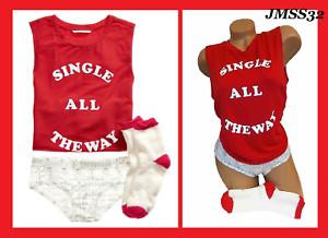Details about  /Victoria/'s Secret Tank Top Shortie Cozy Socks PJ Set Single All The Way SET M