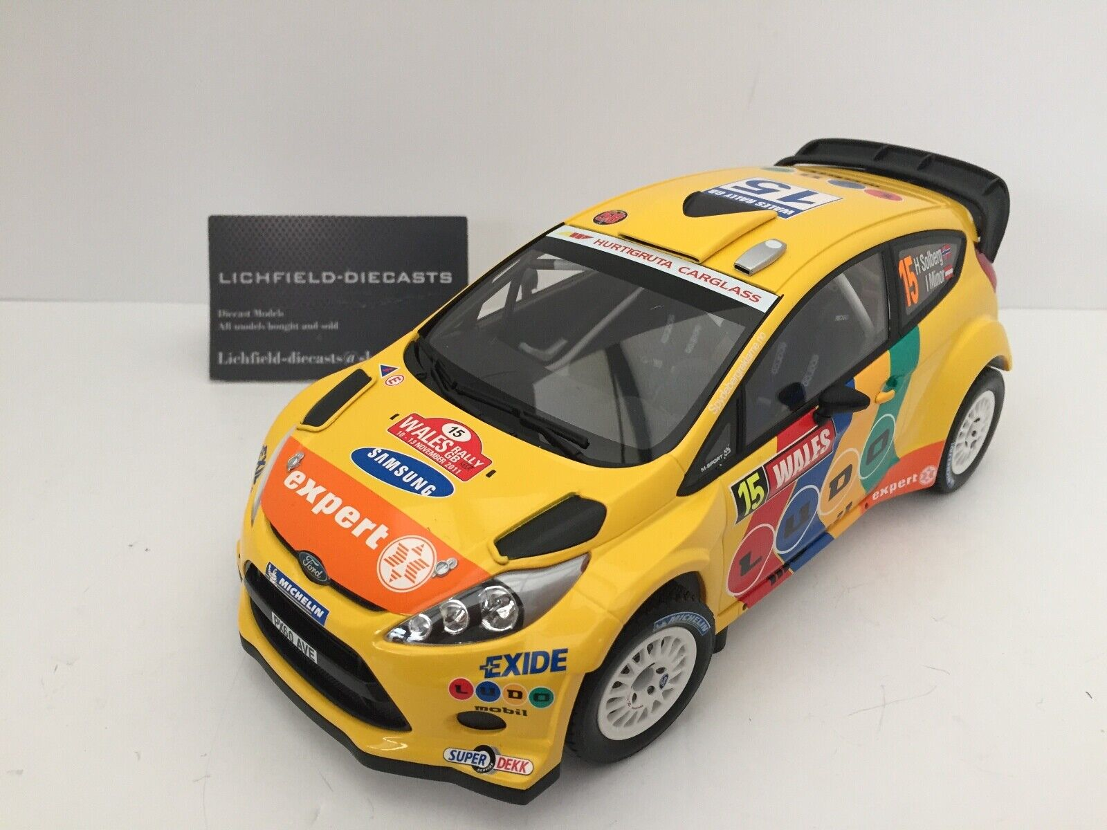 Minichamps 1 18 Ford Fiesta RS WRC Solberg Minor LTD 1002 PCS 151 110815 V.RARE