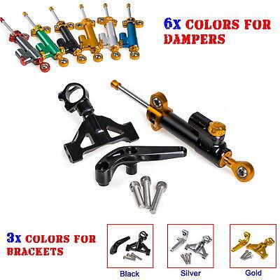 Gold Steering Damper Stabilizer /& Bracket Kawasaki ZZR1400 ZX-14R 2006 2007-2015