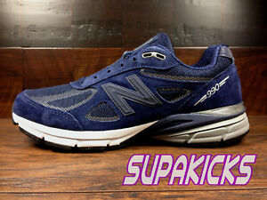 best loved e327e 83cca Details about New Balance M990NLE4 (Navy Suede) Suede Running 990v4 Made in  USA Mens 8-13