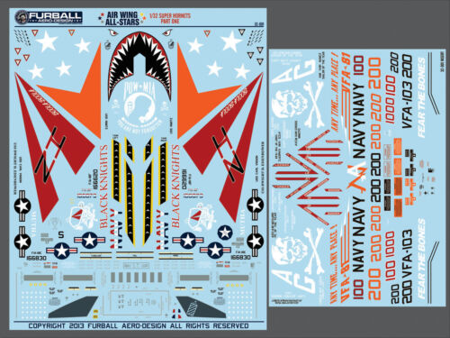 "Furball Aero Design 1//32 #32001 F//A-18E//F Super Hornet /""Air wing All Stars Pt.1/"""