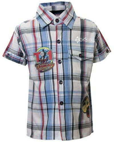Boys Thomas Tank Engine Fashionable Woven Check Shirt Ages 1-4 Years