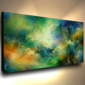 abstract art PAINTING MODERN Contemporary DECOR VIDIO Mix Lang cert ...