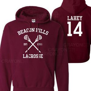 72bb05e596 Teen Wolf Beacon Hills Lacrosse Lahey 14 Hoodie Jumper pullover ...