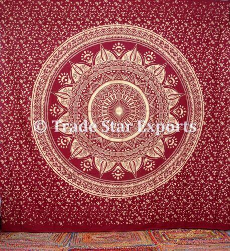 "Mandala Tapestry King Size Wall Hanging 108/"" Hippie Bedspread Boho Throw Decor"