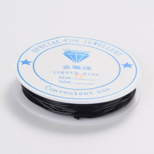 1 x 3M ROLL BLACK Plated Copper Wire 0.8mm Nickel Free Jewellery Craft Making