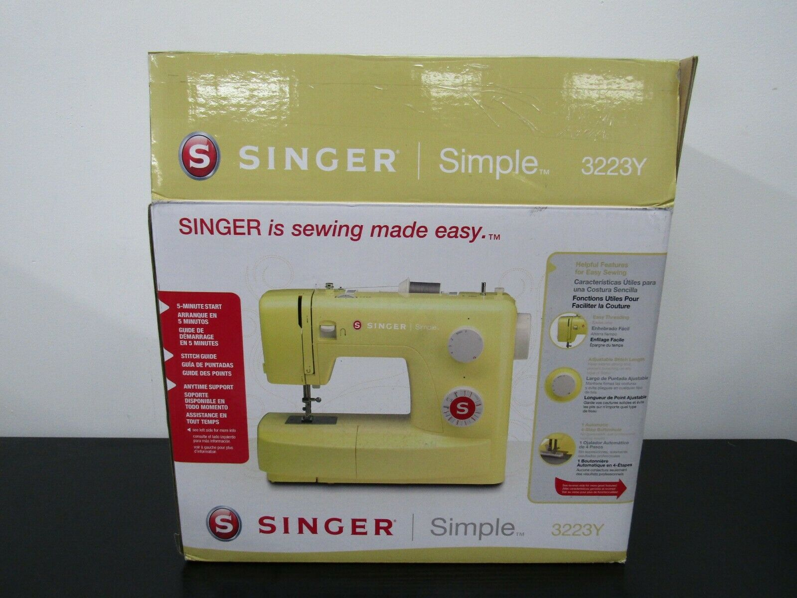 s l1600 - Singer 3223Y Simple Mechanical Sewing Machine - Yellow OPEN BOX