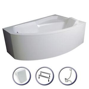 eckwanne badewanne rechts links siphon viega acryl sch rze kissen rima a kis ebay. Black Bedroom Furniture Sets. Home Design Ideas