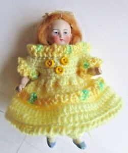 Crochet Dress Set For 5 6 Antique Doll Bisque French Mignonette