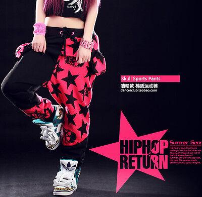 Spring Harem sports trousers Costume sweatpants patchwork Hip Hop dance pants