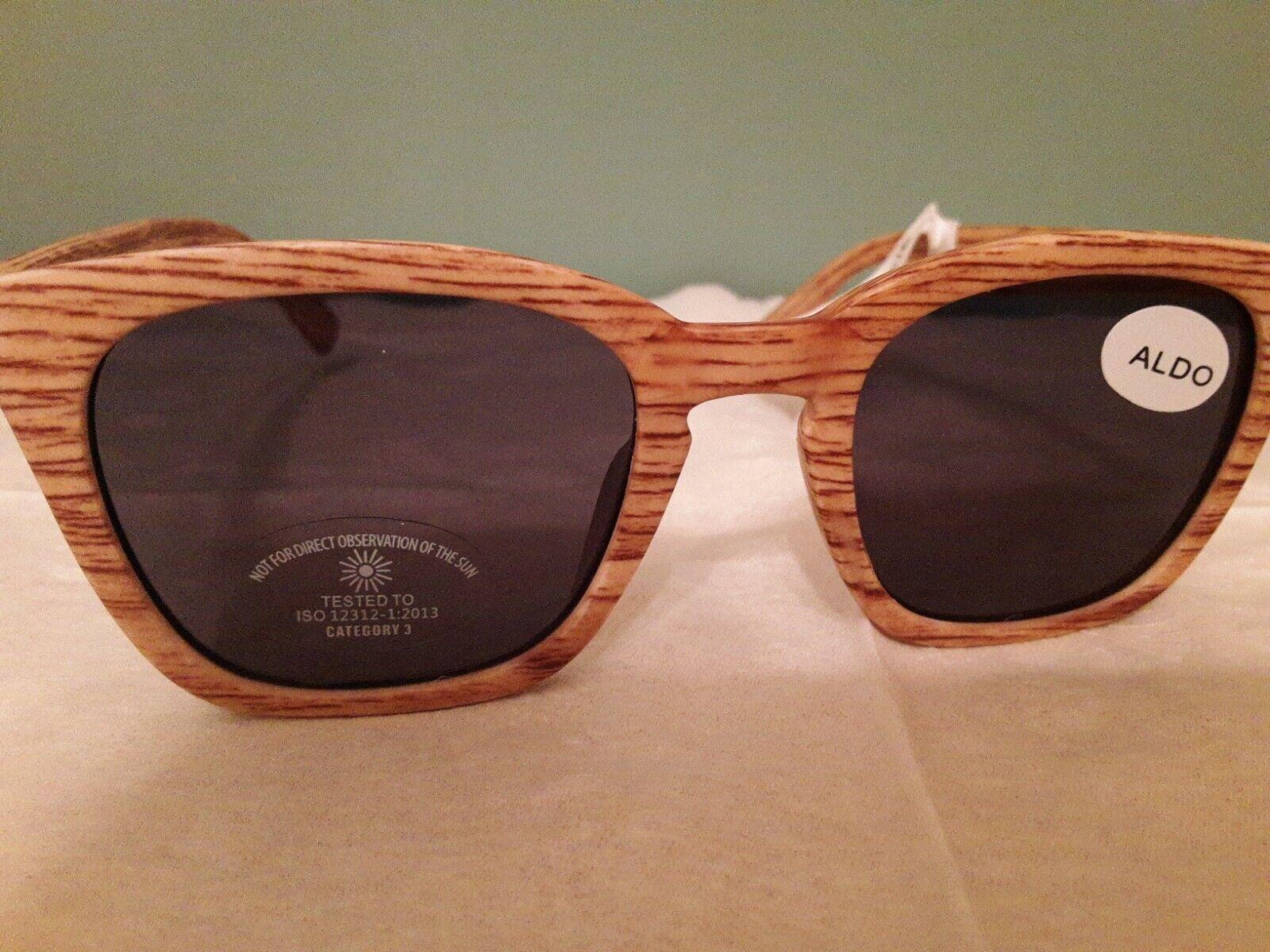 + ALDO Women's Wood look Signature Sunglasses