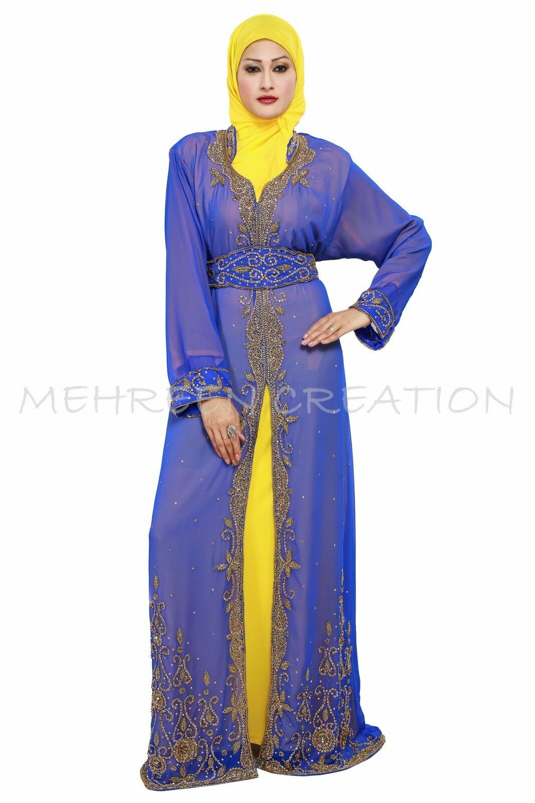 MAGHRIBI DUBAI ABAYA  ISLAMIC ARABIAN MAXI FOR WOMEN CLOTHING EDH  2009