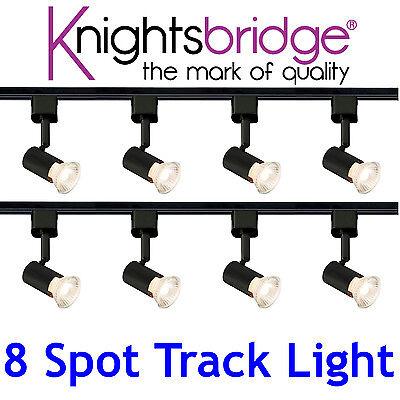 Knightsbridge Single Circuit 8 Spot Track Lighting LED Light 4 Metre Daylight