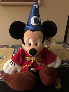 Walt-Disney-World-Plush-FANTASIA-Mickey-Mouse-MAGIC-Sorcerer-Souvenir