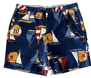 NEW, BROOKS BROTHERS SAILOR COTTON SHORTS, 42, $140