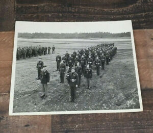 Vintage-8-10-Photo-US-Army-In-Formation-Fort-Hood-Texas