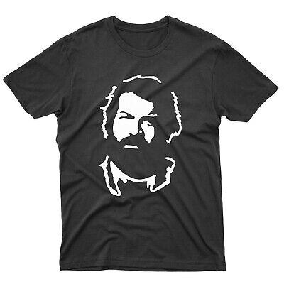 Bud Spencer Official T-Shirt da Uomo Nero Nero