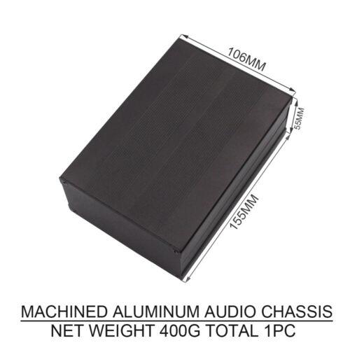 1PC AUDIO CHASSIS MACHINED ALUMINUM Headphone Amplifier DIY DAC POWER BANK CASE