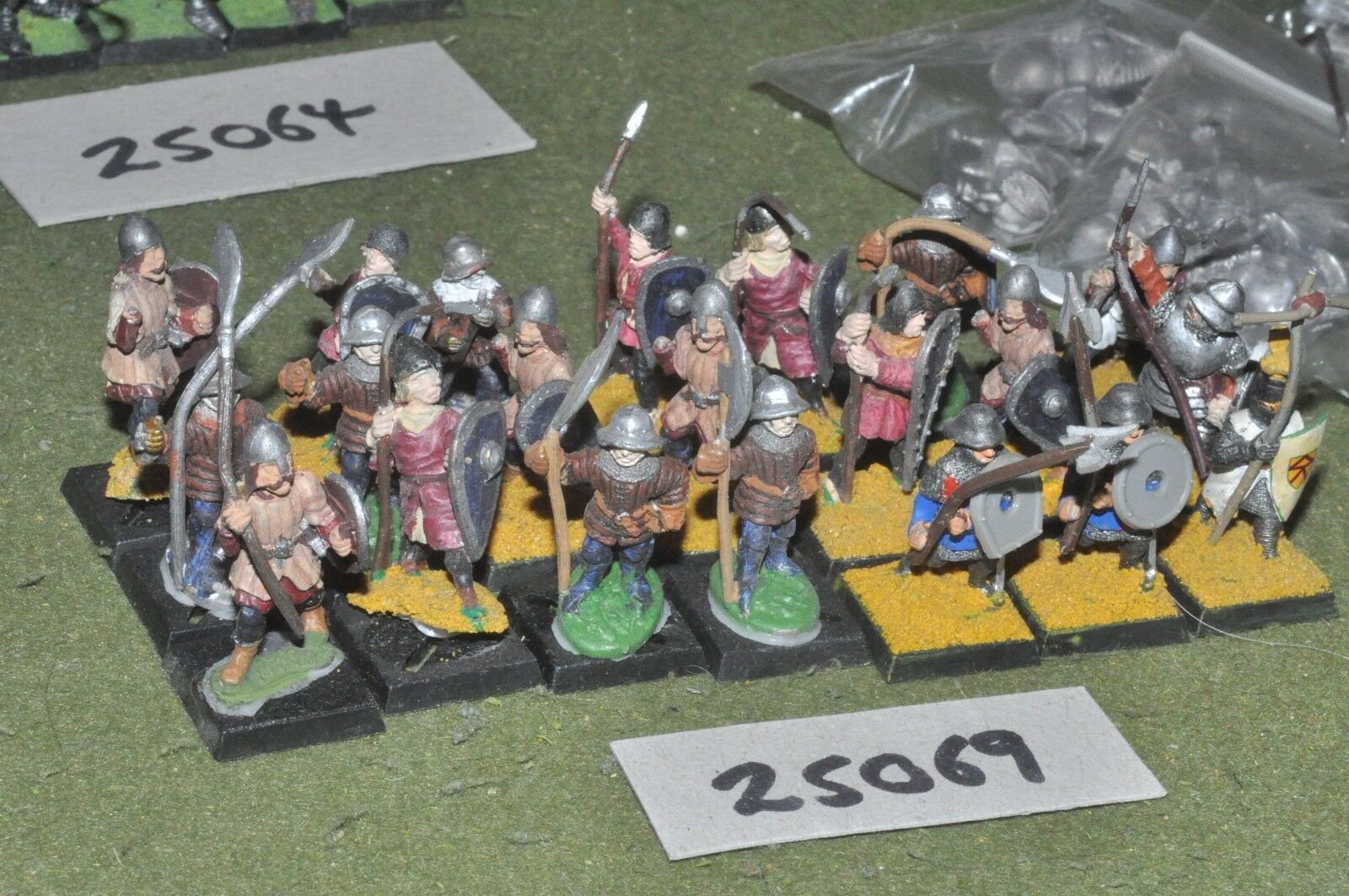 25mm medieval   english - spearmen 21 figures - inf (25069)