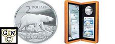 2004 Polar Bear $2 Sterling Silver Coin & Stamp Set (10836)