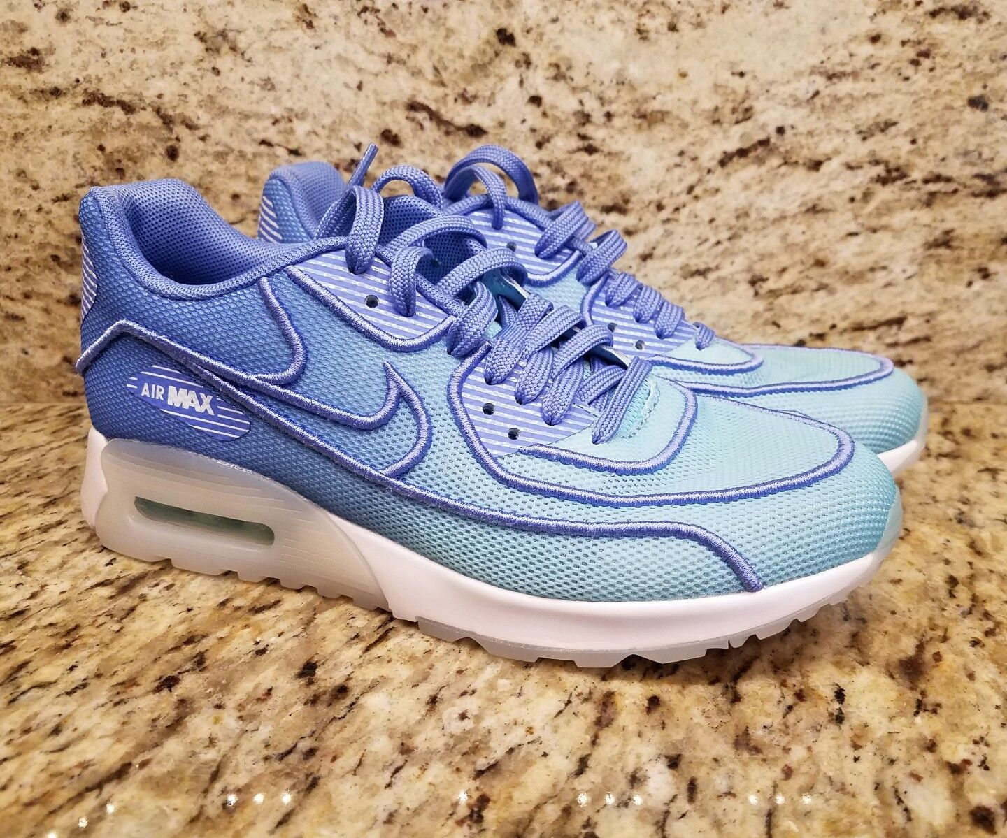 WNMS Nike Air Max 90 Ultra 2.0 BR Polarized bluee  White 917523 400 SZ 6.5 womens