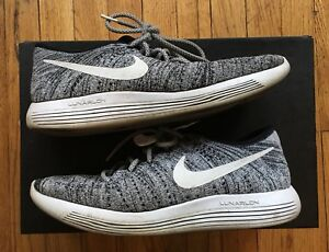 294bfbf11d9b Nike Mens Lunarepic Low Flyknit Black White - Size 9.5 - Oreo With ...