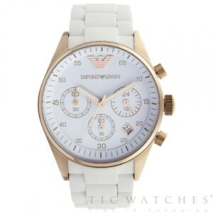 differently best deals on new styles Details about Armani Watches AR5920 White and Rose Gold Women's Chronograph  Watch
