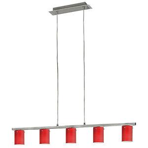 Lampara-de-Suspension-Colgante-Rojo-Niquel-Satinado-Luz-Comedor