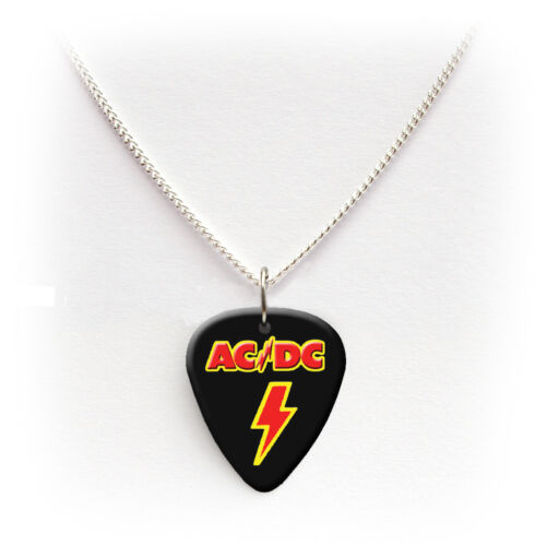 ACDC printed Guitar Pick Plectrum necklace bracelet keyring badge Earrings #1