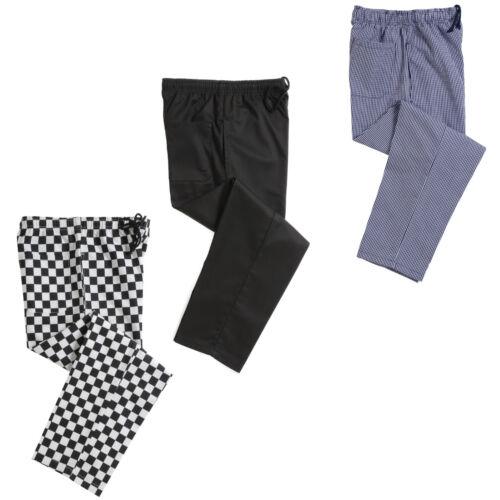 Dennys Unisexe Chefs Carreaux Pantalon 3 Couleurs-Taille réglable
