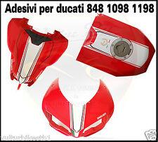 adesivi per ducati 848 1098 1198 fascia centrale cupolino serbatoio codone