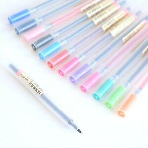 Muji-estilo-0316-Gel-pluma-de-tinta-Boligrafo-Marcador-0-5mm-12-Colores-Reino-Unido-vendido