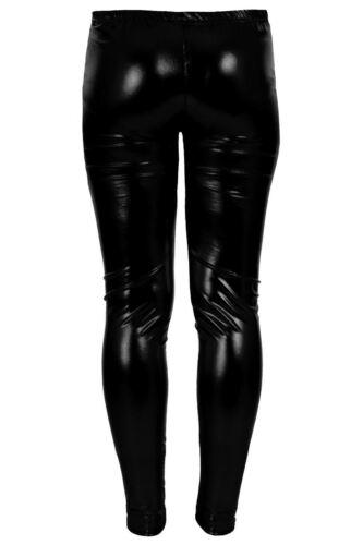 Girls Metallic Shiny Legging Kids Foil Wet Look Children Costume Disco Party