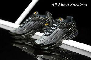 Nike-Air-Max-Plus-III-034-Nero-LUPO-Grigio-B-034-Uomo-Scarpe-da-ginnastica-LIMITED-STOCK-Tutte-le