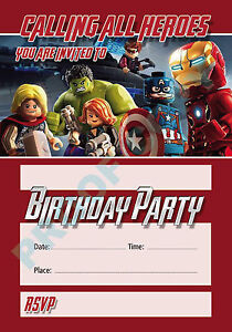 Image Is Loading 44 LEGO AVENGERS Pack Of 10 Kids Children