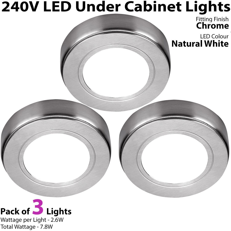LED placard de cuisine spots 240V naturel blanc Surface Surface Surface / Chasse Chrome light | Durable Service  2fddf6