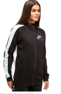 3f2e03d83b84 BNWT Small Women s Nike Air Full Zip Hoodie Black Silver Green ...