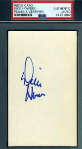 Dick-Howser-PSA-DNA-Coa-Autograph-Hand-Signed-3x5-Index-Card