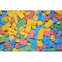 2 Pounds Candy Lego Blocks Blox Hard 4 Flavors Goody Bags Party Favors Two Lb