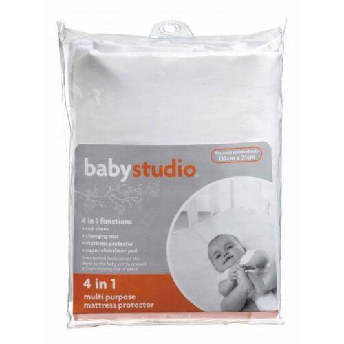 BabyStudio 4 in 1 Baby Child/'s Mattress Protector Cot Bed Sheet 132 x 71cm