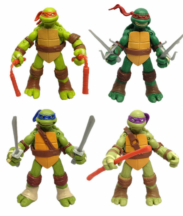 4 pcs Teenage Mutant Ninja Turtles Action Figures TMNT Toy 12cm S340 (2)