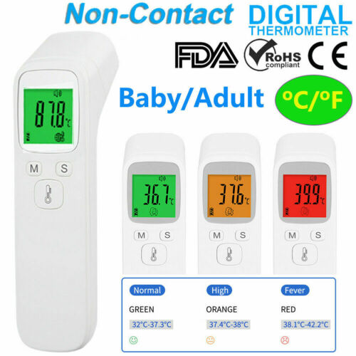 LCD Digital Non-Contact Infrared Baby Adult Forehead Temperature Thermometer