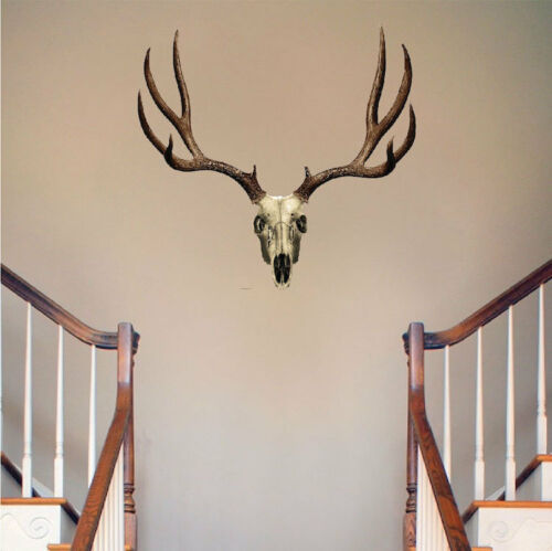 a09 Deer Antler Wall Decal Mural Skull Hunting Wild Animals Removable Wall Art