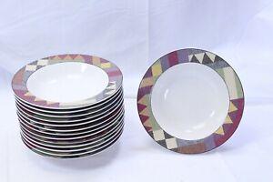 Studio-Nova-Palm-Desert-Rim-Soup-Bowls-8-25-034-Lot-of-12