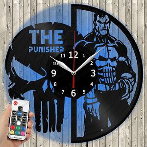 The Punisher Vinyl Clock Record Wall Clock Decor Fan Art Home 2867